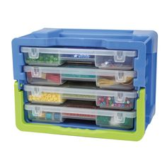 Darice® Designer Storage - Storage Case with 4 Removable Organizer Trays...This looks so handy and useful