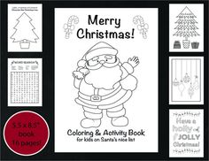 Christmas Coloring and Activity Book by VividBlissPrintables, Christmas Kids Activity, Holiday Children's Activity, Holiday coloring