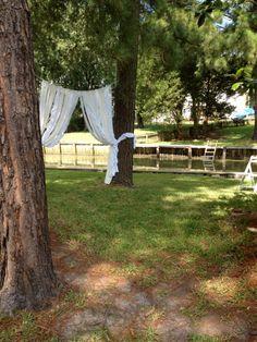 Rustic Glam Wedding Ceremony Backdrop Garland by ohMYcharley, $174.00