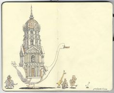 Incredible drawings by Swedish artist Mattias Adolfsson. See his entire Sketchbook 21 via link (I had trouble deciding which pages to pin!)