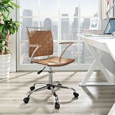 Cocoa Woven Office Chair