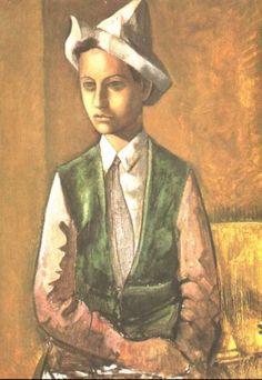 """Tymon Niesiołowski  """"Chłopiec w spiczastej czapce"""", ok. 1930 r."""