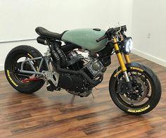 """A sick Yamaha Virago built by Virago Cafe Racer, Yamaha Virago, Honda Cb750, Honda Cbr 600, Cb 450 Cafe Racer, Cafe Racer Tv, Cafe Racer Build, Cafe Racer Motorcycle, Girl Motorcycle"