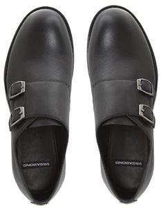 c9a0e0fcb91 Vagabond Kenova Buckle Flat Shoes at asos.com