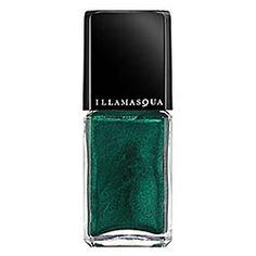 Illamasqua - Nail Varnish in Viridian - peacock green/ metallic finish  #sephora