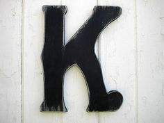 Shabby chic Letter K Wooden Rustic Sign Black by LettersofWood, $25.00