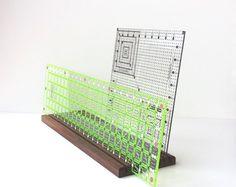 Junior Ruler Organizer Wonder if my husband could make one like ... : quilt ruler holder - Adamdwight.com