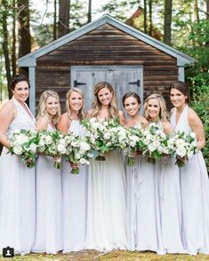 """""""Mist""""-y mountain mornings in inspiration Amsale Bridesmaid, Blue Bridesmaid Dresses, Blue Bridesmaids, Wedding Dresses, Blue Wedding, Wedding Colors, Photo S, Mists, Real Weddings"""