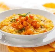 Salmon & butternut squash risotto - tasty enough for adults and easy for babies too. Pumpkin Risotto, Butternut Squash Risotto, Crockpot Recipes, Cooking Recipes, Healthy Recipes, Salmon Risotto, Arborio Rice, Vegetarian Recipes, Eating Clean