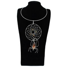 Halloween inspiration - Spider amber necklace