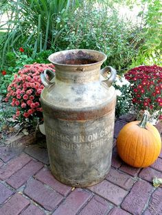 Large antique milk can - Fairbury Nebraska - Farmer's Coop Creamery - Great patina on Etsy, $70.00