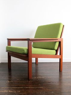 'Capella' armchair by Illum Wikkelso...freshly dressed and ready to party!