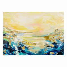 KESS InHouse Ebi Emporium 'The Reverie' Yellow Blue Dog Place Mat, 13' x 18' >>> To view further for this item, visit the image link. (This is an affiliate link and I receive a commission for the sales) #Doggies