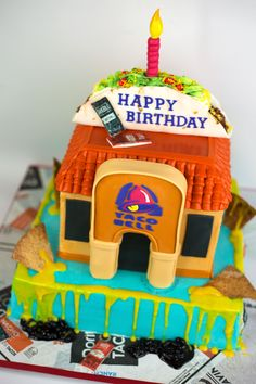 Taco Bell Birthday Cake Happy Birthday Man, Funny Birthday Cakes, 14th Birthday, Unique Cakes, Creative Cakes, Taco Bell Wedding, Anna Cake, Cupcake Cakes, Cupcakes