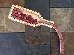 Wine Cork Art Pouring wine bottle by ClayInHisLivingRoom on Etsy, $65.00