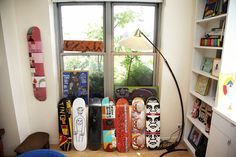 kim hastreiter « the selby - skateboards as wall art