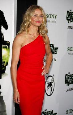 Cameron Diaz Azzaro One Shoulder Red Dress