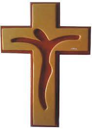 Resultado de imagen para cruz con silueta de cristo