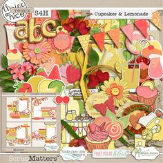 Cupcakes And Lemonade by Alissa Jones, Fiddle-Dee-Dee Designs and Find Your Bliss Designs  http://shop.scrapmatters.com/product.php?productid=11821=372=1