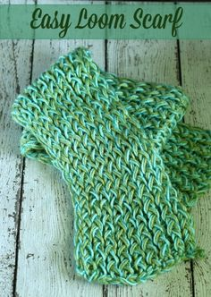 DIY Easy Loom Knitting Scarf