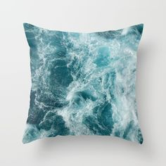 Sea Throw Pillow by Vickn - Cover x with pillow insert - Indoor Pillow Couch Pillows, Down Pillows, Floor Pillows, Cushions, Throw Pillows, Fluffy Pillows, Accent Pillows, My New Room, My Room