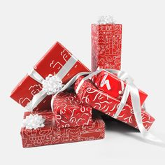 (PRODUCT)RED Gift Wrap Set Wall Candy, Red S, Xmas, Christmas, Gift Wrapping, Seasons, Holiday, Yule, Yule
