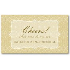 Brown Wedding Formal Custom Event Drink Ticket Rehearsal Dinners Weddings And
