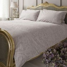 Milton Heather Lace Quilt Cover Set, Available in 4 Sizes - Starting from £55   brandinteriors.co.uk