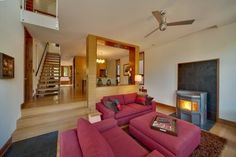 images of rooms with modern wood stoves | Pellet Stoves Design Ideas, Pictures, Remodel, and Decor