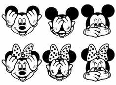 Mickey peek a boo Disney Fantasy, Cricut Craft Room, Cricut Vinyl, Silhouette Cameo Projects, Silhouette Design, Silhouette Cameo Disney, Mickey Minnie Mouse, Disney Mickey, Mandala Art