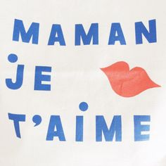 maman je t'aime #typography #type #typeface #icon