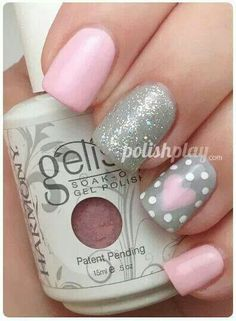 Love the gray and baby pink