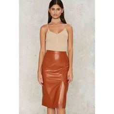 So Long Midi Skirt (76 CAD) ❤ liked on Polyvore featuring skirts, long skirts, brown skirt, long maxi skirts, calf length skirts and brown maxi skirt
