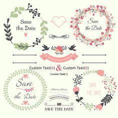 Jogo bonito de salvar as etiquetas do dia Vetor grátis Wedding Cards, Diy Wedding, Wedding Invitations, Wedding Frames, Invitation Cards, Wedding Flowers, Background For Photography, Photography Backdrops, Wedding Photography