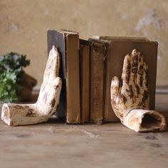 I pinned this 2 Piece Praying Hands Bookend Set from the Kalalou event at Joss and Main!