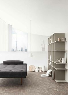 fusion sofa and shelves (nendo + BoConcept)