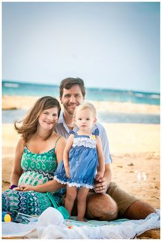 Beach theme Family and Maternity session from  Happy Thoughts Studio