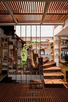 wood slat floors (a21 House by a21 studio)