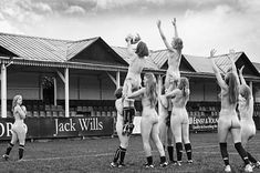 Line out: The Oxford University Women's Rugby Football Club (OUWRFC) present their first ever naked calendar which features current members ...