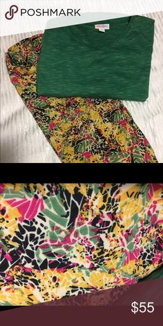 LLR XXS Irma and OS Leggings. NWT This outfit is so cute, just can't wear LLR to work and bought too much. Only tried on top. LuLaRoe Other