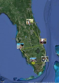 """Florida by RV - Our """"fun"""" route!  #Travel #Florida #blogger Our land route begins in South Florida. After a little going away bon voyage..."""