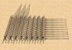 A Macedonian Phalanx. Note how the spears are basically twice the length of Greek Hoplites. Hoplites are perhaps most famous for their battle formation, the phalanx, which influenced ancient warfare in a huge way. Although the phalanx may have been used beforehand by other civilizations, it truly gained importance and recognition from the Greeks.