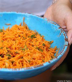 Salade de carottes râpées cerfeuil citron