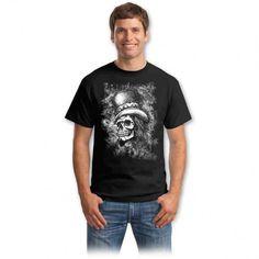 Tricouri cu cranii – Tricou cu craniu online Bad To The Bone, Graphic Design Inspiration, Horror, Mens Tops, Vintage, Choppers, Spirit, Fashion, Moda