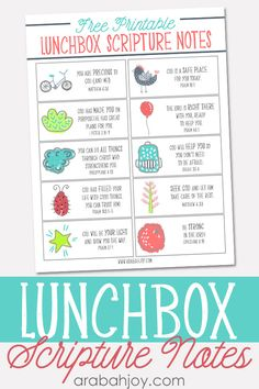 FREE Lunchbox Scripture Notes printable