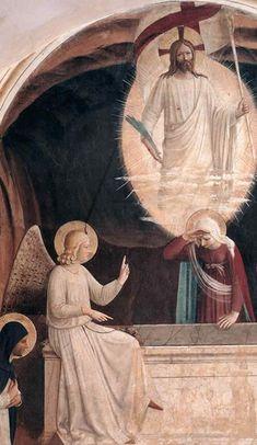 BEATO ANGELICO - Cristo risorto con le pie donne al sepolcro, part - affresco - 1440-1441 - cella n. 8 - Convento-Museo N. di San Marco, Firenze
