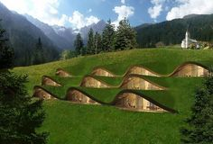 underground home ideas contemporary architecutre ideas clima hotel Architecture Durable, Green Architecture, Sustainable Architecture, Architecture Design, Contemporary Architecture, Maison Earthship, Earthship Home, Casa Dos Hobbits, Earth Sheltered Homes
