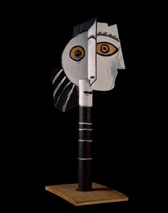 Pablo Picasso, Head of a Woman, 1957, Wood, National Museum of Modern Art - Georges Pompidou Center, Paris