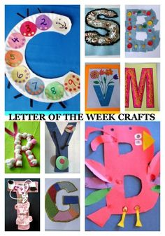 Letter of the Week. Crafts for every letter of the alphabet!