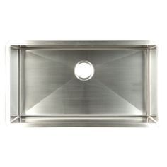 Franke USA FrankeUSA 18-Gauge Single-Basin Undermount Stainless Steel Kitchen Sink